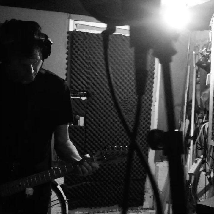 Laying down guitars @boutiqueempire for the new single.